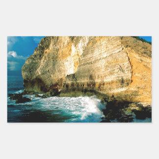 ビーチのPointe Desの館グアダループ 長方形シール