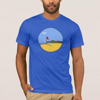 ビーチのTシャツの男性Shiro Tシャツ