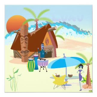 ビーチのTikiかルアウ(ハワイ式宴会) カード