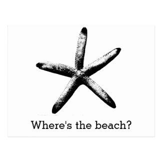 ビーチはどこにありますか。 ポストカード