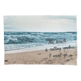 ビーチは呼んで、私は行かなければなりません 枕カバー