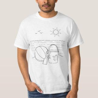 ビーチは大人の着色のワイシャツをもてあそびます Tシャツ