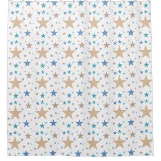 ビーチは星を着色します シャワーカーテン