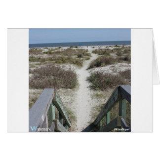 ビーチへの通路 カード