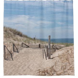 ビーチへの道 シャワーカーテン