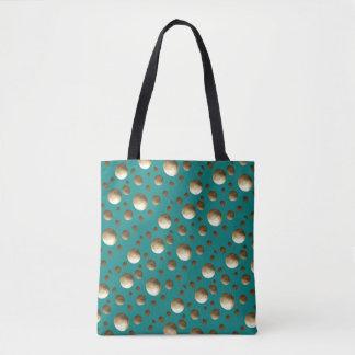 ビーチまたはショッピングのためのシックな金ゴールドの点の水のバッグ トートバッグ