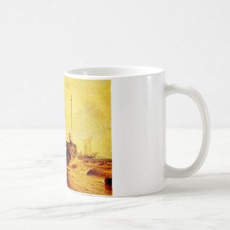 ビーチアンドレアスAchenbachのfishingboat コーヒーマグカップ