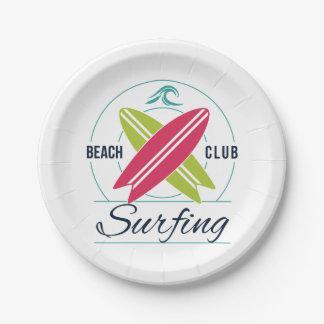 ビーチクラブサーフの紙皿 ペーパープレート