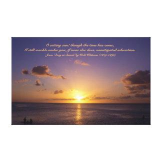 ビーチグアムの美しい熱帯島の日没 キャンバスプリント