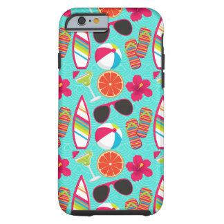 ビーチサンダルのサングラスのビーチボールのiPhone6ケース ケース