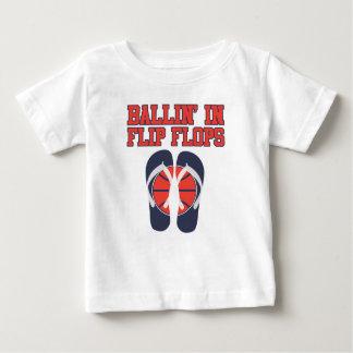ビーチサンダルのBallin ベビーTシャツ