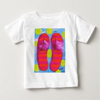 ビーチサンダル ベビーTシャツ