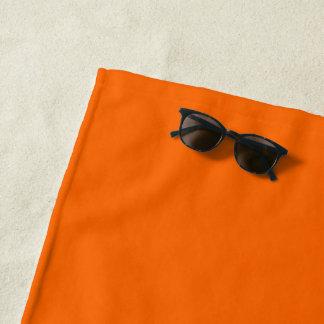 ビーチタオルのオレンジ ビーチタオル