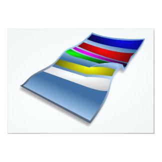 ビーチタオルの招待状 12.7 X 17.8 インビテーションカード