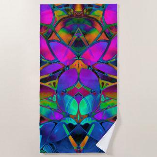 ビーチタオルの花のフラクタルの芸術 ビーチタオル