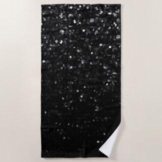 ビーチタオルの黒水晶きらきら光るなStrass ビーチタオル