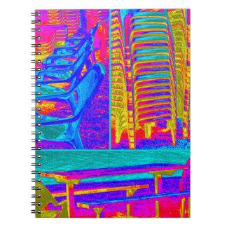 ビーチチェアのノートのコラージュ14 ノートブック