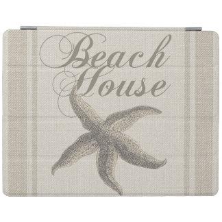 ビーチハウスのヒトデのサンディの沿岸装飾 iPadスマートカバー