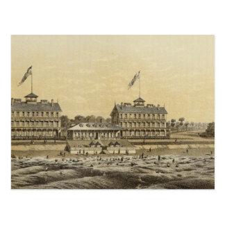 ビーチハウス、Monmouth Co授けられる、海NJ ポストカード