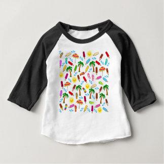 ビーチパターン ベビーTシャツ