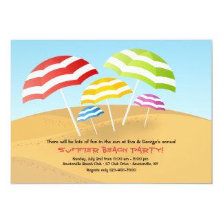 ビーチパラソルの招待状 12.7 X 17.8 インビテーションカード