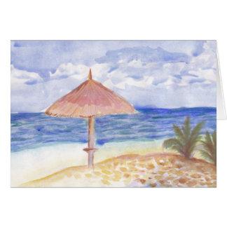 ビーチパラソルの挨拶状 カード