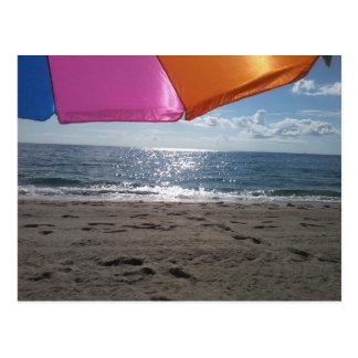 ビーチパラソル ポストカード