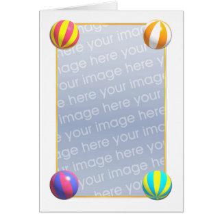 ビーチボール((高い)写真フレーム) カード