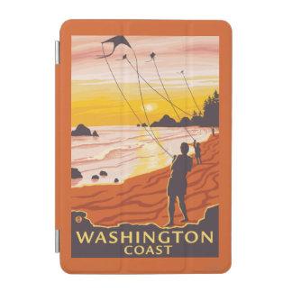 ビーチ及び凧-ワシントン州の海岸 iPad MINIカバー