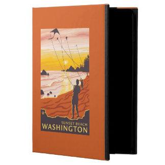 ビーチ及び凧-日没のビーチ、ワシントン州 iPad AIRケース