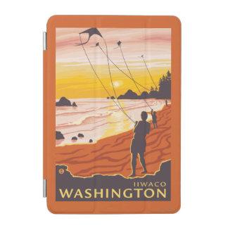 ビーチ及び凧- Ilwaco、ワシントン州 iPad Miniカバー