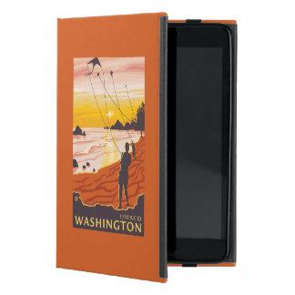 ビーチ及び凧- Ilwaco、ワシントン州 iPad Mini ケース