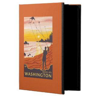 ビーチ及び凧- Moclips、ワシントン州 iPad Airケース