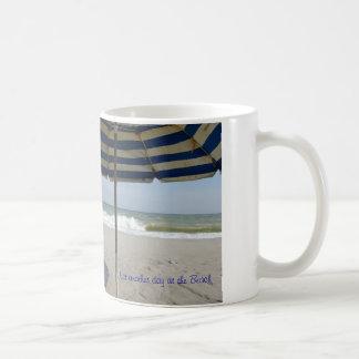 ビーチ場面のコーヒーカップ コーヒーマグカップ