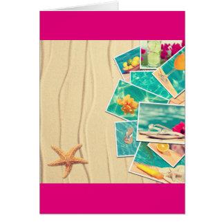 ビーチ場面 カード