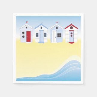 ビーチ小屋の紙ナプキン スタンダードカクテルナプキン
