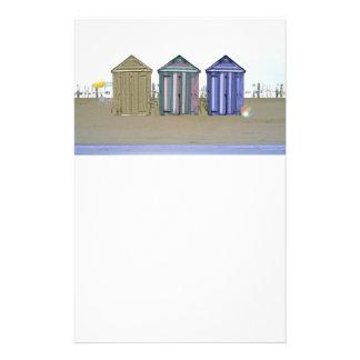 ビーチ小屋の芸術のギフト 便箋