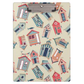 ビーチ小屋パターン クリップボード
