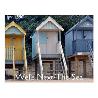 ビーチ小屋、井戸次海の郵便はがき ポストカード