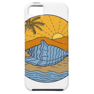 ビーチ山の日曜日のココヤシの木月曜日のコンシュの貝 iPhone SE/5/5s ケース