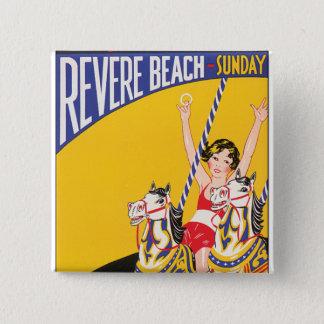 ビーチ日曜日を尊敬して下さい 缶バッジ