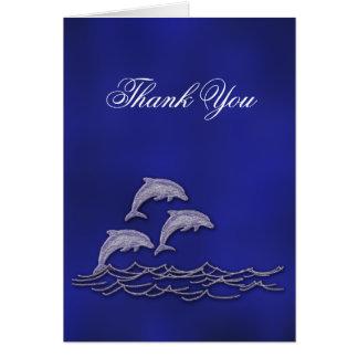 ビーチ結婚式のイルカは感謝していしています カード