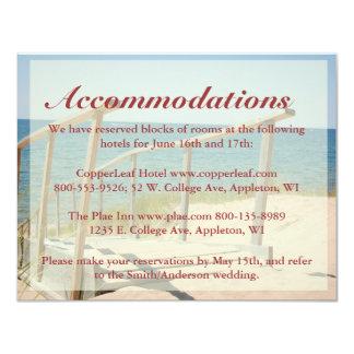 ビーチ結婚式のエンクロージャカード-ビーチの階段 カード