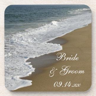 ビーチ結婚式のコルクのコースターセット ドリンクコースター