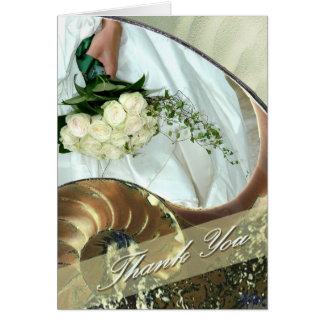 ビーチ結婚式のサンキューカード カード