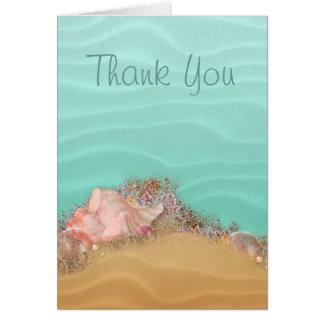 ビーチ結婚式のサンディの海岸 カード