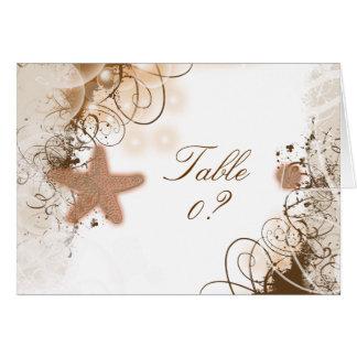 ビーチ結婚式のテーマの~のテーブルの座席の配置 カード