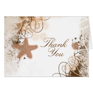 ビーチ結婚式のテーマの~は感謝していしています カード