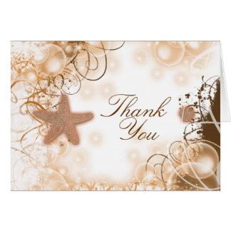 ビーチ結婚式のテーマの~は2感謝していしています カード
