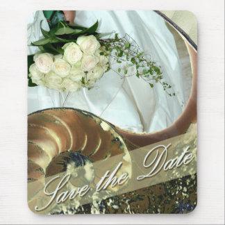 ビーチ結婚式の保存日付 マウスパッド